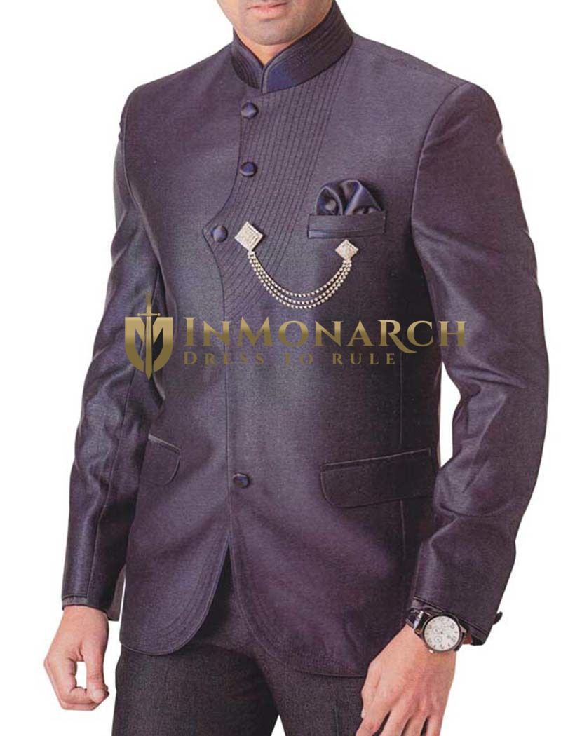 Mens Purple Wine 4 pc Tuxedo Suit Wedding
