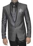 Mens Gray 7 Pc Tuxedo Suit Wedding