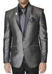 Mens Brown 6 Pc Polyester Tuxedo Suit
