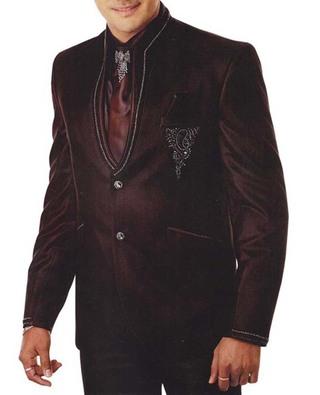 Mens Brown 6 Pc Tuxedo Suit Two Button