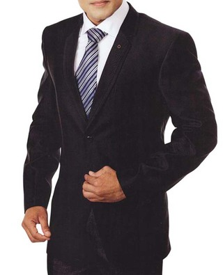 Mens Black 4 Pc Tuxedo Suit Notch Lapel