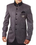 Mens Gray 3 Pc Tuxedo Suit Royal Touch