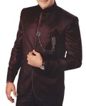 Mens Brown 4 Pc Tuxedo Suit Royal Look
