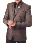 Mens Brown Tuxedo Suit Festival Party Wear 6 Pc