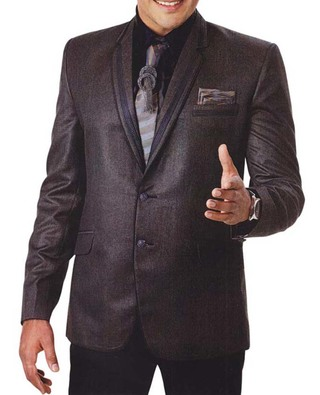 Mens Brown 6 Pc Tuxedo Suit Unique Party Wear