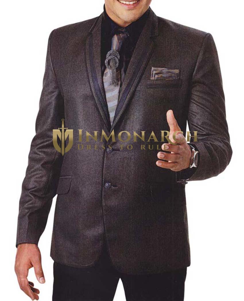 Mens Brown 6 Pc Tuxedo Suit Unique Party Wear
