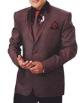 Mens Brown 6 Pc Tuxedo Suit Traditional