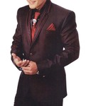 Mens Burgundy Classic 6 Pc Tuxedo Suit