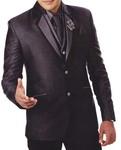 Mens Purple Wine 7 Pc Tuxedo Suit Two Button