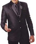 Mens Purple Wine 7 Pc Tuxedo Suit Two Button