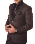 Mens Brown 7 Pc Tuxedo Suit Shawl Collar