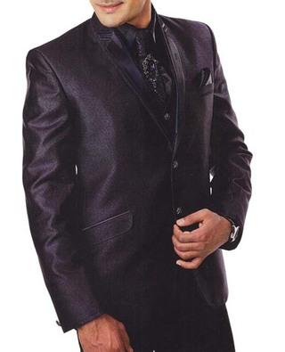 Mens Purple Wine 7 Pc Tuxedo Suit Wedding