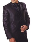 Mens Purple Wine 7 Pc Tuxedo Suit Wedding