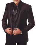 Mens Brown 7 Pc Tuxedo Suit Beach Wedding
