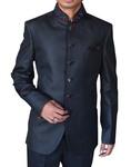Mens Black 3 pc Polyester Tuxedo Suit Lovely
