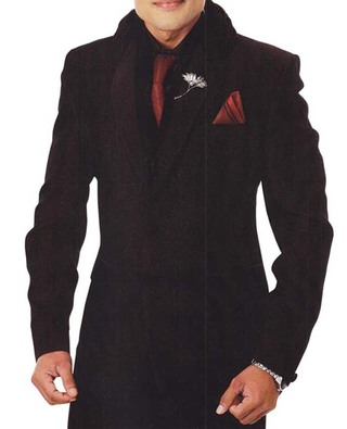 Mens Black Tuxedo Suit Classic Look 7 Pc