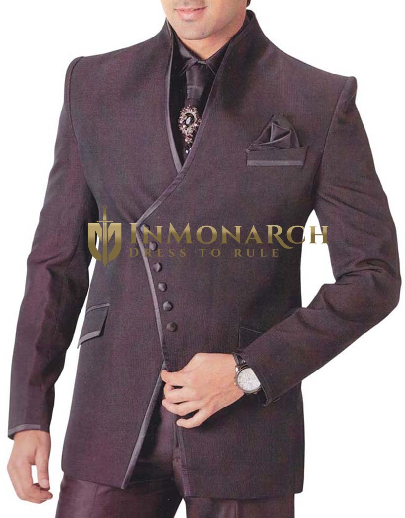 Mens Brown 6 pc Tuxedo Suit Royal Touch