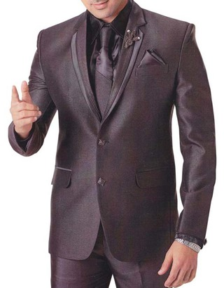 Mens Brown 6 pc Tuxedo Suit Groom Party Wear