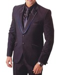 Mens Purple Wine 6 Pc Tuxedo Royal Look Two Button