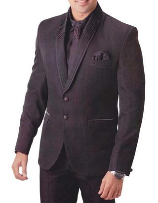 Mens Brown 6 Pc Tuxedo Suit Unique Party