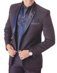 Mens Purple Wine 7 Pc Tuxedo Suit Classic Designer