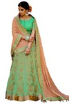 Ethnic Silk Jacquard Wedding Lehenga Choli