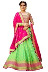 Light Green Silk Jacquard Lehenga Choli