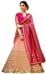 Peach & Pink Embroidered Bridal Lehenga