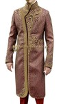 Mens Maroon 2 Pc Sherwani Stylish Embroidered