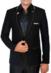 Mens Slim fit Casual Black Single Button Blazer sport jacket coat Professional Style