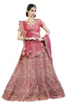 Rose Pink Silk Bridal Lehenga
