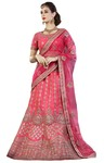 Heavy Work Pink Wedding Lehenga