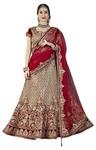 Red Velvet and Silk Designer Lehenga