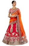 Ravishing Look Crimson Silk Lehenga Choli