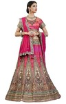 Shaded Fuschia Pink Silk Lehenga Choli