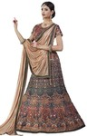 Designer Shaded Gray Lehenga Choli
