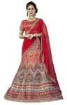 Crimson Red Bhagalpuri Silk Lehenga Choli