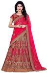 Fuschia Pink Bhagalpuri Silk Bridal Lehenga