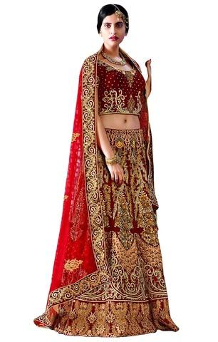 Elegance Maroon Bridal Lehenga Choli