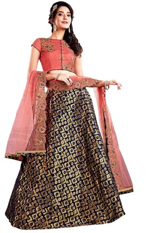 Navy Blue Wedding Lehenga Choli