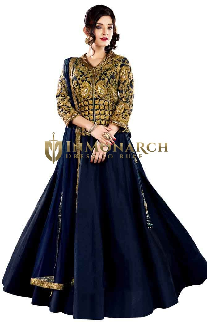Heavy Work Navy Blue Lehenga Choli