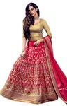 Magnificent Pink Silk Lehenga Choli