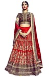 Royal Bridal Printed Red Lehenga Choli