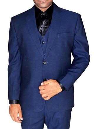 Mens Navy Blue 5 Pc Tuxedo Suit Elegant