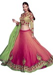 Shaded Satin Georgette Flared Lehenga