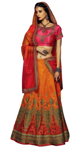 Yellow Ark Silk Designer Lehenga Choli