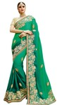 Shaded Green Designer Georgette Saree