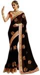 Partywear Black Georgette Saree