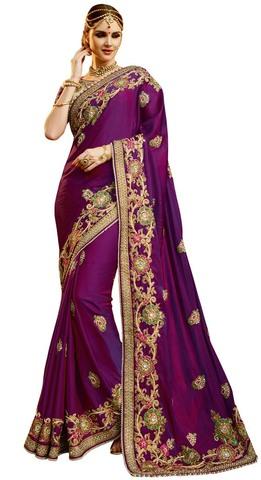 Purple Indian Wedding Sarees