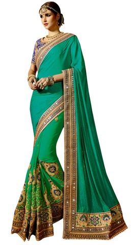 Indian Wedding Half and Half Saree